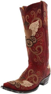 "Old Gringo Women's Grace Boot.  $444.80 - $588.00            Show off your ""Grace"" in this ultra-femme cowboy boot from Old Gringo. This traditional silhouette is all decked-out with a supple grainy leather upper that's covered in vibrant embroidery. This eye-catcher will get you glanced at from every angle as its exceptional crafts..."