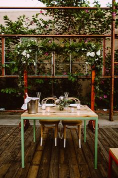 reception pops of color, photo by Kym Ventola Photography http://ruffledblog.com/elysian-los-angeles-wedding #weddingideas #weddingreception