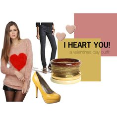A Fun take on a Valentines Day Outfit #valentine #heart