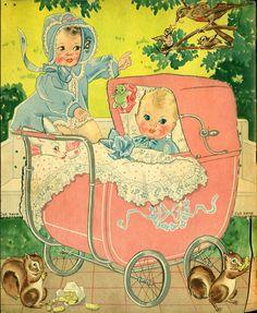 Paper Doll Vintage Merrill Book #3444 - 1938