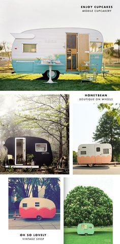 Vintage campers exterior