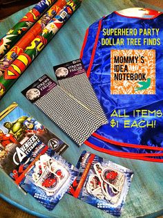 Mommy's Idea Notebook: Superhero Party Dollar Tree Finds! Superhero Capes for $1 each! All $1 each!