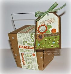 Take Out Box and Tag - created by GinaB  www.gmbscrapper.blogspot.com   SHOP AT: www.stampinheaven.ctmh.com