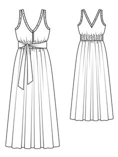 smocked maxi-dress pattern