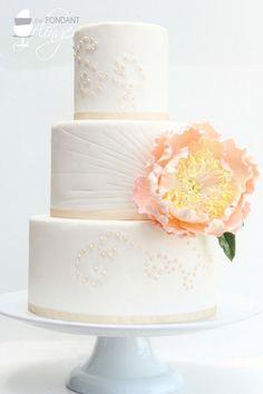 beauti cake, cake idea, pastel pink, larg pastel, pink peoni, wedding cakes, cake pictur, fondant finger, flower