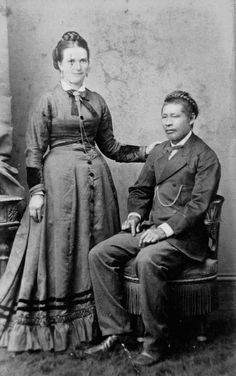 A portrait of Mr. and Mrs. Chick Tong of Australia, exact date unknown. #Victorian #vintage #couples #Australia