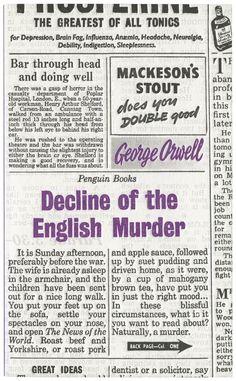 George Orwell: Decline of the English Murder.