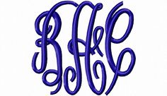 $0.00  Free Sample Letters - Classic Monogram Machine Embroidery Font