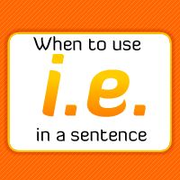 If you can change i.e. to in other words, and the sentence still makes sense, then you're using it correctly.