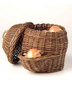 Potato and Onion Storage Basket, by gardeners.com