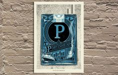 "Portishead [blue variant] gig poster by Lars Krause 16.5""x24.5"" Edition of 36"