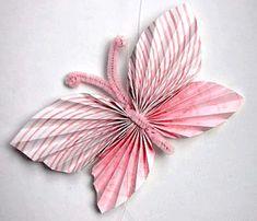 Pretty Folded Paper Butterflies