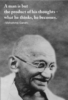 An wonderful quote by Gandhi