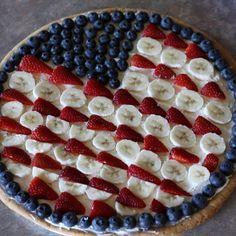 Flag Fruit Pizza | Food Friendzee
