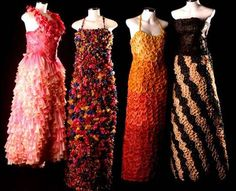 Condom Couture  Dress Made of Condoms for AIDS Charity