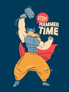 Marvel Stuff by Diego Leal, via Behance #thor #illustration #color #marvel #silly