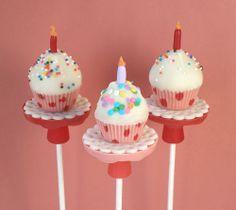 Birthday Cupcake Pops - Rice Krispies Treats