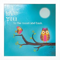 "Timeless Frames ""I Love You to the Moon and Back"" Framed Art, 12x12"