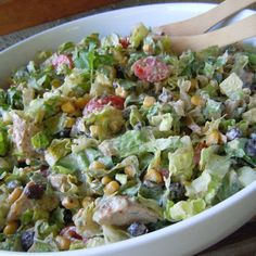 Chipotle Chicken Taco Salad Recipe - Key Ingredient -- could do without the chicken for a side salad.