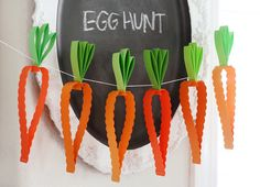 Cute carrot garland - could be used by teachers to talk about eating healthy foods