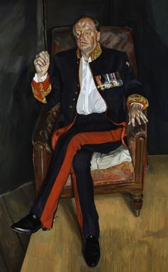 The Brigadier by Lucien Freud