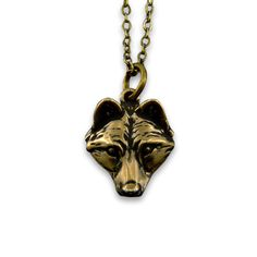 Little Wolf Face Necklace