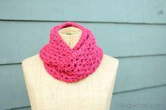 dog woof, strand infin, infinity scarfs, infin cowl, doubl strand, winter doubl, crochet pattern, scarv, scarf pattern