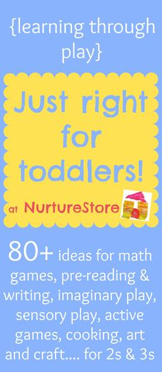 Activities for toddlers :: learning through play - NurtureStore craft, preschool at home, sensory play, play ideas, toddler games, learning activities, kid stuff, toddler activities, toddler learning