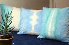 Dreamy DIY dip dye pillows