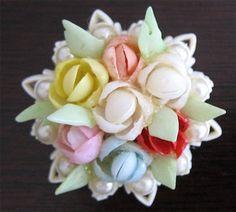 Shell Flower Brooch