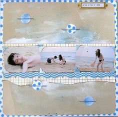 Scrapbook layout for the beach