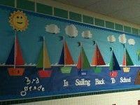 Bulletin Boards school bulletin boards, sailboats, schools, sail boats, bulletinboard, teacher, classroom ideas, board idea, back to school