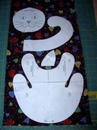 Cat Bean Bag  Toy or Door Stop