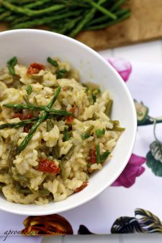 Risotto with Wild Asparagus and Sun-Dried Tomatoes