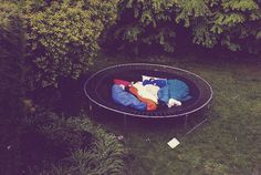 some of my best childhood memories were camping out on a trampoline