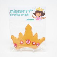 Dora The Explorer Birthday Party Favors, Mermaid Crown Cookies