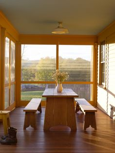 Eating in nature... lovely. Rafe Churchill, The New Farmhouse, Screened Porch   Remodelista