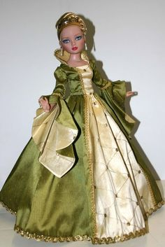 "Royal Enchanted Court Gown for 16"" Ellowyne Wilde Dolls Tonner by designsbyjude"