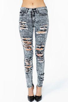 Acid Rip Skinny Jeans