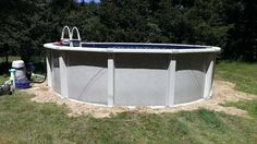 """Aqua Leader all resin pool 54"""" with a ten inch true radius top rail system. 18' round fully installed less than $4,200.00"""