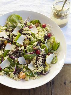 Organic Baby Lettuces and Quinoa Salad #myplate #salad #quinoa