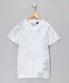 Take a look at this White Scribble Tee - Boys  by Boys Will Be Boys Collection on #zulily today!