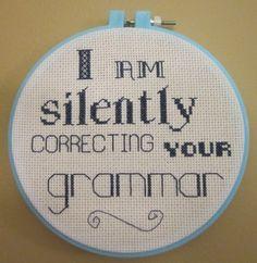 teacher gifts, life, friends, quotes, funni, true, craft ideas, cross stitches, grammar