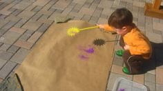 Fly Swatter Painting - Love this!!!