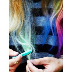 Free People Ombre Hair Chalk ($14) ❤ liked on Polyvore