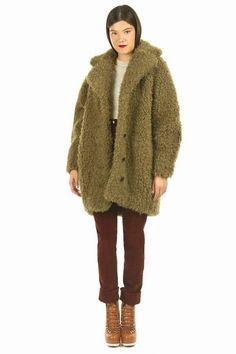 kenzo faux fur coat