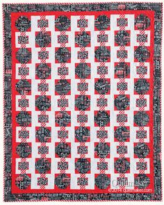 Christmas Ribbons by Carolyn Beam for Quiltmaker. See a scrappy version by Margaret Kennedy on today's Scrap Squad post.
