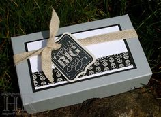 Masculine card and gift box with Chalk Talk
