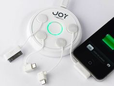 Joy Factory ZipMini Multi-Charging Station - The Joy Factory ZipMini charging station is the next step in mobile device power. Take a call or check your e-mail without manually disconnect cables. GetdatGadget.com