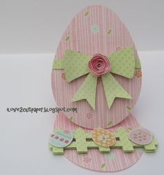 i love 2 cut paper easels, card paper, card idea, easel cards, craft, easter card, shaped cards, easter eggs, shape card